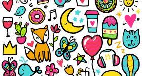Doodle de colores