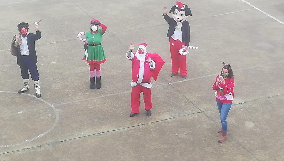 Visita Papá Noel y Olentzero